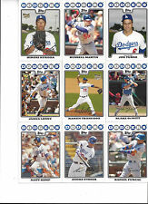 2008 Topps Los Angeles Dodgers Team Set Kemp Hu Kent Ethier Loney Furcal Lowe 22