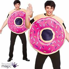 Adult Doughnut Donut Fancy Dress Costume Pink Sprinkled Sweet Cake Food Sweetie