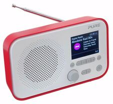 Pure Elan 3  DAB Digital FM Portable Radio With Colour Screen - Red
