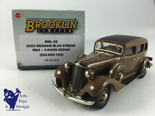 1/43 BROOKLIN BML 09 GRAHAM BLUE STREAK M64 4 DOOR SEDAN 1933 GOLDEN TAN