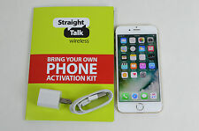 Great APPLE iPhone 6 16GB GOLD FOR STRAIGHT TALK PREPAID W/ A SIM CARD.