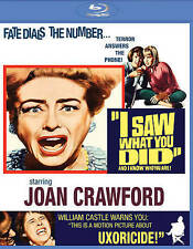 I SAW WHAT YOU DID (1965) Blu-Ray *WILLIAM CASTLE Joan Crawford *SCREAM FACTORY