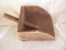 Nautical Wooden Water Bailer/Scoop,Copper Nails,Boat,Skiff,Rowboat,Old Red Paint