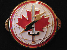 Canadian Armed Forces Dept. National Defense Command enameled metal pocket badge