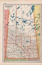 1920 MAP -POST WW1- CANADA-SASKATCHEWAN