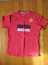 Manchester United Just Do It Nike T SHIRT boy youth S soccer football jersey vtg