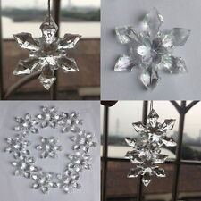 12pcs Christmas Snowflakes Ornaments Festival Party Xmas Tree Hanging Decor Gift