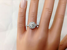 1.60Ct Genuine Natural Round Diamond Engagement Ring In Solid 14K White Gold