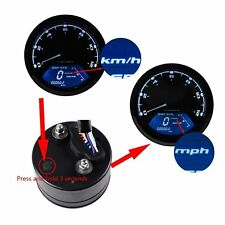 Universal 12000 RPM 199 KMH MPH Odometer Speedometer Tachometer Motorcycle