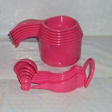 New Tupperware Gadgets Full Set Measuring Cups and Spoons Pink