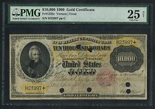 FR1225c $10,000 1900 GOLD NOTE (ONLY 19 KNOWN) EXTREMELY RARE WLM3138