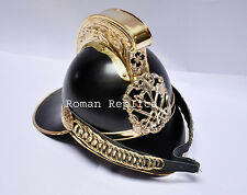 Antiqued Brass Vintage Style Firemen Helmet Fire Fighter Helmet