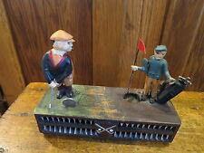 Vintage Mechanical Birdie Putt Piggy Bank Golf Game Toy