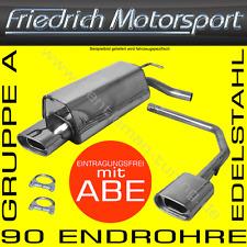 FRIEDRICH MOTORSPORT GR.A V2A DUPLEX AUSPUFF VW GOLF 4 CABRIO 98-02