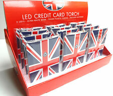 UNION JACK LED Credit Card TORCH, UK British Flag London England GB Souvenirs