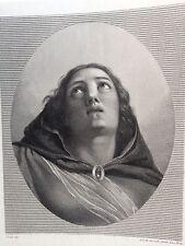 COSTA ANTONIO , PARMA studio TOSCHI XIX secolo.M.V. ASSUNTA. acquaforte