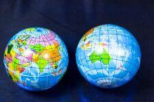 24x Flummi Globus 6cm Weltkugel Springball Erde Welt Ball Gummiball Mitgebsel