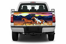 2 Horses Running Truck Tailgate Wrap Vinyl Graphic Decal Sticker Wrap