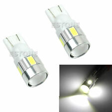 2X High power LED SMD T10-5630-6LED 194 W5W White with Projector Car light