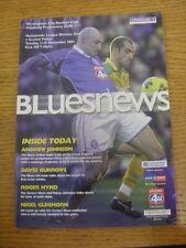 11/12/2001 Birmingham City v Crystal Palace (plegado). este artículo se suministra con