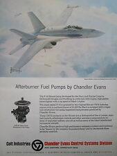 12/1977 PUB COLT CHANDLER EVANS F-18 AFTERBURNER FUEL PUMPS KEITH FERRIS AD