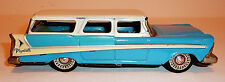 BANDAI Japanese Tin Litho Friction 1958 PLYMOUTH 4-DOOR STATION WAGON ~ 8.5-Inch