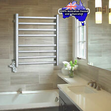 Bathroom 8 Bars Square Electric Heated Towel Rack Stainless Steel Warmer Rail