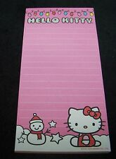 Hello Kitty Magnetic List Pad Note Book Christmas Pink