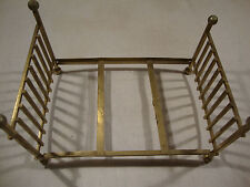Vintage Metal Brass Tone Miniature Mini Doll House Bed Frame Toy Furniture Kids