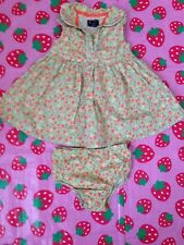 Baby Girl Dress & Pants Set 18 Months Pit To Pit 10""