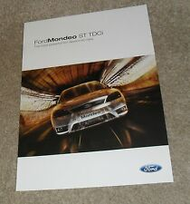Ford mondeo st tdci brochure flyer 2004