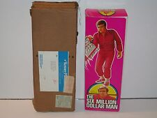 SIX MILLION DOLLAR MAN BIONIC MAN 100% COMPLETE MIB + KENNER MAILER BOX 1975