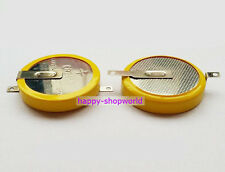2 x New Tabbed 3V CR2450 Battery Coin Cell Button With 2 solder 180° Tabs/Pins