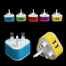 Dual USB Ports 2A Home Wall Travel Charger Adapter For iPhone Samsung UK Plug 5V
