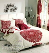 4Pcs Complete Bed Set lot Duvet Cover With Matching Fitted Sheet & Pillow Cases