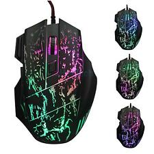 5500 DPI 7 Button LED Optical USB Wired Gaming Mouse Mice For Pro Gamer PC Nice