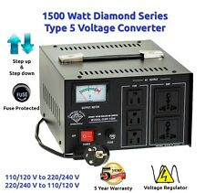 Diamond Series DSR-1500 w/Regulator Watt Step Up/Down Voltage Converter