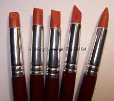 5 Lg Clay Shaper Tools - Sculpt & Design in Polymer Stoneware Ceramic Pottery