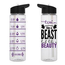 Water Tracker – Train Like A Beast Look Like A Beauty Sports Water Bottle 24 Oz