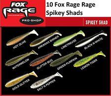 10 Fox Rage Spikey Shad 12cm Gummifische für Zander Hecht Barsch