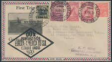 "AUG 4,1931 ""DOX"" FIRST TRIP FLIGHT COVER BRAZIL TO USA BS6805"