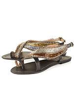 Topshop heavenly perles sandales uk 3 en multi (neuf sans emballage)