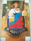 """Vintage Signed Blond St.Pauli Girl Beer Germany Poster """"Bob All my Love Maureen"""""""
