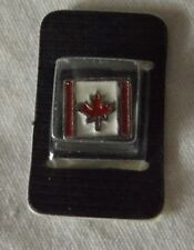 Necklace Bracelet Charm Bead Enamel Canadian Flag Maple Leaf Square