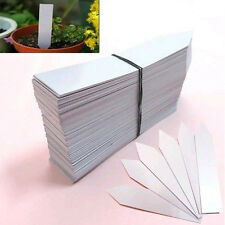 100Pcs 4 Inch Garden Plant Pot Markers Plastic Stake Tags Nursery Seed Labels LS