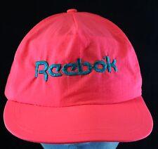 Vintage REEBOK Nylon NEON PINK Lightweight Baseball Tennis Adjustable Hat