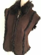 Scoop Brown Shearling vest size 44