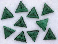 Two 8.5mm Triangle Natural Malachite Cab Cabochon Gem Gemstone African 6533