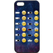iPhone 5 / 5s Phone case Emoji Face battery funny Space funky smiley