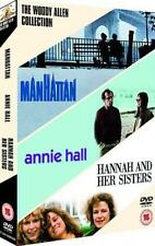 WOODY ALLEN Manhattan*Hannah and Her Sisters*Annie Hall Comedy DVD Set *EXC*